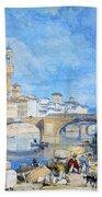 Ponte Santa Trinitia Florence Beach Towel