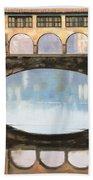 Ponte Vecchio A Firenze Beach Towel by Guido Borelli
