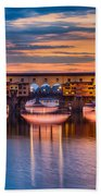 Ponte Vecchio At Sunset Beach Towel