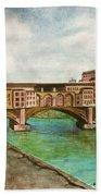 Ponte Vecchio Florence Italy Beach Sheet