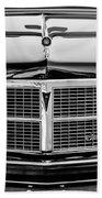 Pontiac Grand Ville Grille -0332bw Beach Towel