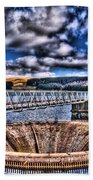 Pontsticill Reservoir Merthyr Tydfil Beach Towel by Steve Purnell