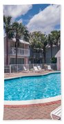 Pool And Cottages Beach Towel
