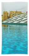 Pool And Roof Of Alexandria Library-egypt  Beach Towel