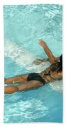 Pool Couple 9717b Beach Towel