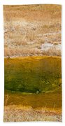Pool In Upper Geyser Basin In Yellowstone National Park Beach Towel