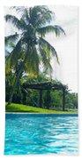 Pool Panorama Beach Towel