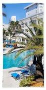 Poolside 01 Beach Towel