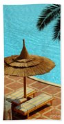 Poolside Relaxation Beach Towel