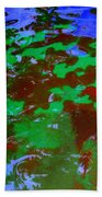 Poolwater Abstract Beach Towel