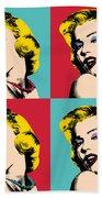 Pop Art Collage  Beach Sheet