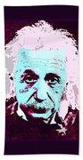 Pop Art Einstein No 3 Beach Towel