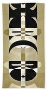 Pop Art People Totem 6 Beach Towel