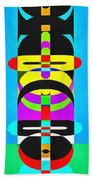 Pop Art People Totem 7 Beach Towel
