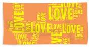 Pop Love 3 Beach Sheet