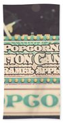 Popcorn Stand Carnival Photograph From The Summer Fair Beach Towel