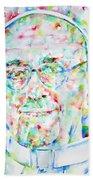Pope Francis Watercolor Portrait Beach Towel