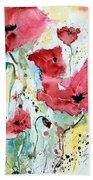 Poppies 05 Beach Towel by Ismeta Gruenwald