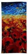 Poppies 2 Beach Towel