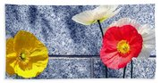 Poppies And Granite Beach Towel