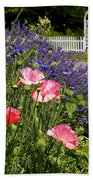 Poppies And Lavender Beach Towel