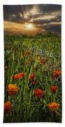 Poppies Art Beach Towel