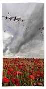 Poppies Dropped  Beach Towel