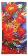 Poppies Gone Wild Beach Towel by Sherry Harradence