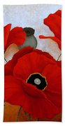 Poppies II Beach Towel