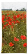Poppies IIi Beach Towel