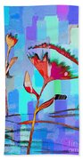 Poppies On Blue 2 Beach Towel