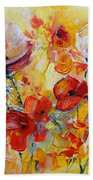 Poppies On Fire Beach Towel