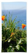 Poppies On The Pacific Beach Towel