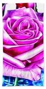 Poppin Purple Rose Beach Towel