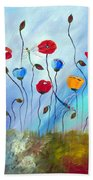 Poppy And Dragonfly Beach Towel