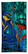 Poppy At Night Abstract 1 Beach Towel
