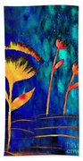 Poppy At Night Abstract 3  Beach Towel