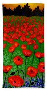 Poppy Carpet  Beach Towel