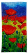 Poppy Corner II Beach Towel by John  Nolan