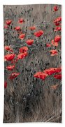 Poppy Field Beach Towel