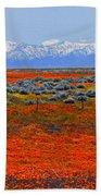 Poppy Fields Forever Beach Towel