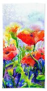 Poppy Fields Beach Towel