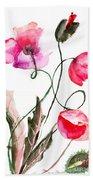Poppy Flowers Beach Towel