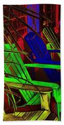 Neon Porch Perches Beach Towel