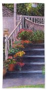 Porch With Watering Cans Beach Towel