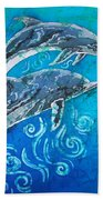 Porpoise Pair Beach Towel