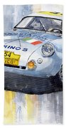 Porsche 550 Coupe 154 Carrera Panamericana 1953 Beach Towel by Yuriy  Shevchuk