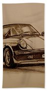 Porsche 911 Carrera Beach Towel