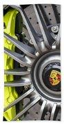 Porsche 918 Wheel Beach Towel