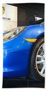 Porsche Cayman S In Sapphire Blue Beach Towel